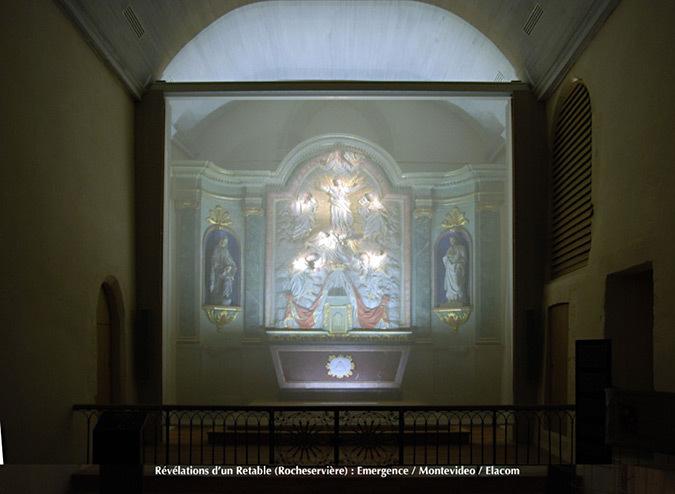 Revelations-Retable-05-eglise Saint-Sauveur, Rocheserviere, France © Atelier Emergence, Montevideo, Elacom