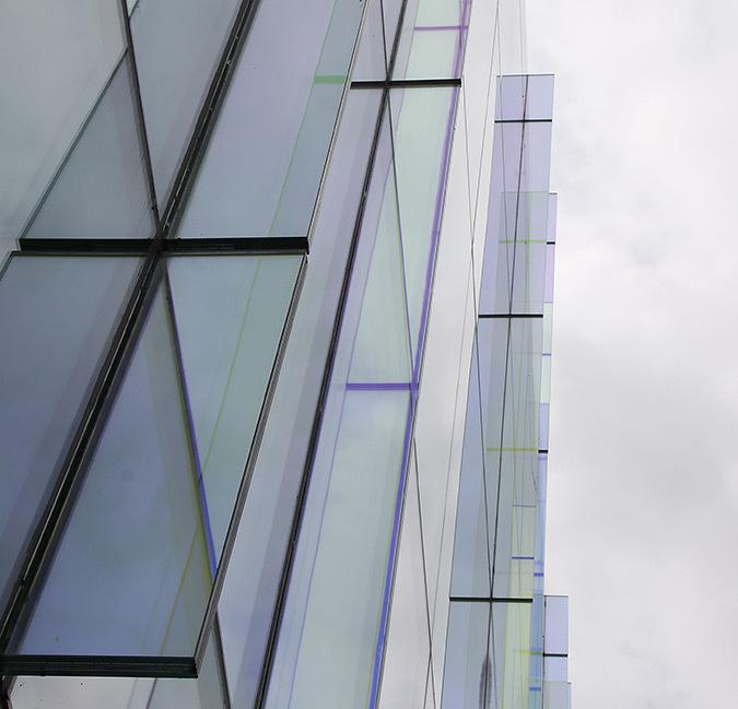 Vue dessous les raidisseurs, 1 Grand Canal Square, Dublin, Irlande - Architectes : DMOD - Ingénieurs : BDA - Photo : Vincent Laganier