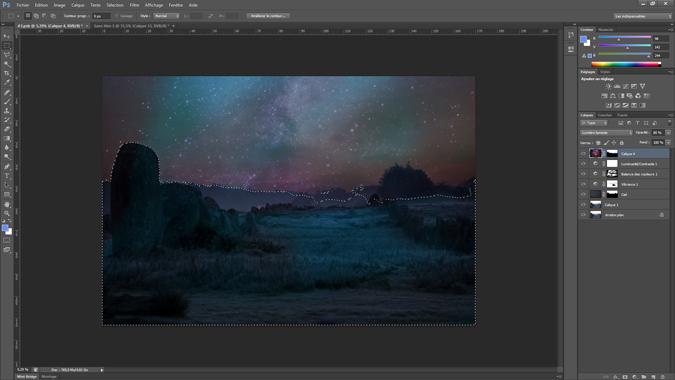 13 - selection du ciel - tutoriel Photoshop, maitriser la nuit – Nicolas Houel