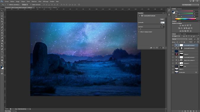 18 - lumiosite_constraste - tutoriel Photoshop, maitriser la nuit – Nicolas Houel