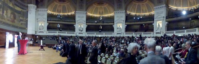 Année de la Lumière en France 2015 - Cérémonie de lancement - Panoramique - Grand Amphithéâtre de la Sorbonne, Paris - Photo : Vincent Laganier