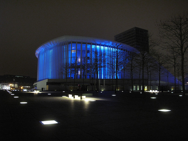 Mono Light, Eric Michel, 2014 - Philharmonie Luxembourg, Rainy days 2014 - Photo : Eric Michel