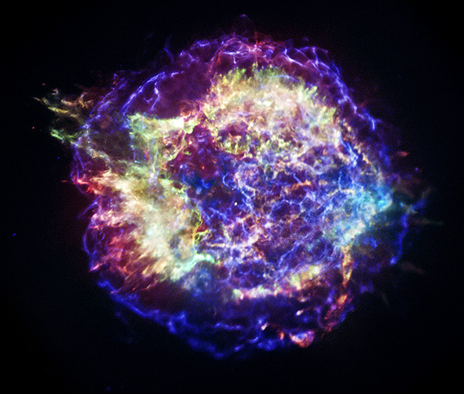 Cassiopeia A, une supernova - Photo NASA, CXC, SAO