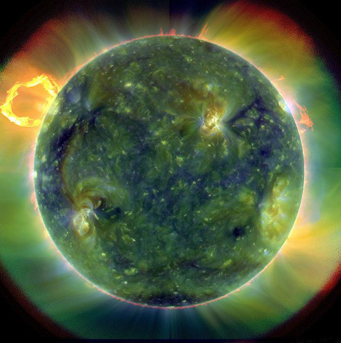 Notre soleil en ultraviolet - Photo : NASA, SDO
