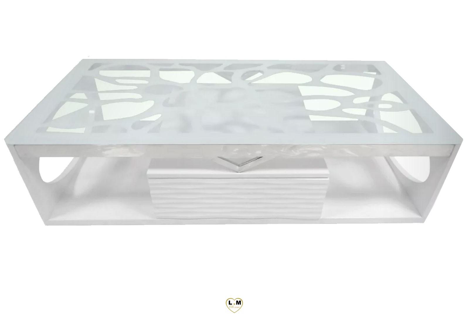 arabesque table basse laque blanc