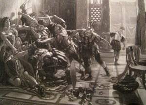 L'assassinat de l'empereur Geta (rien à voir avec David, malheureusement) par son frère Caracalla