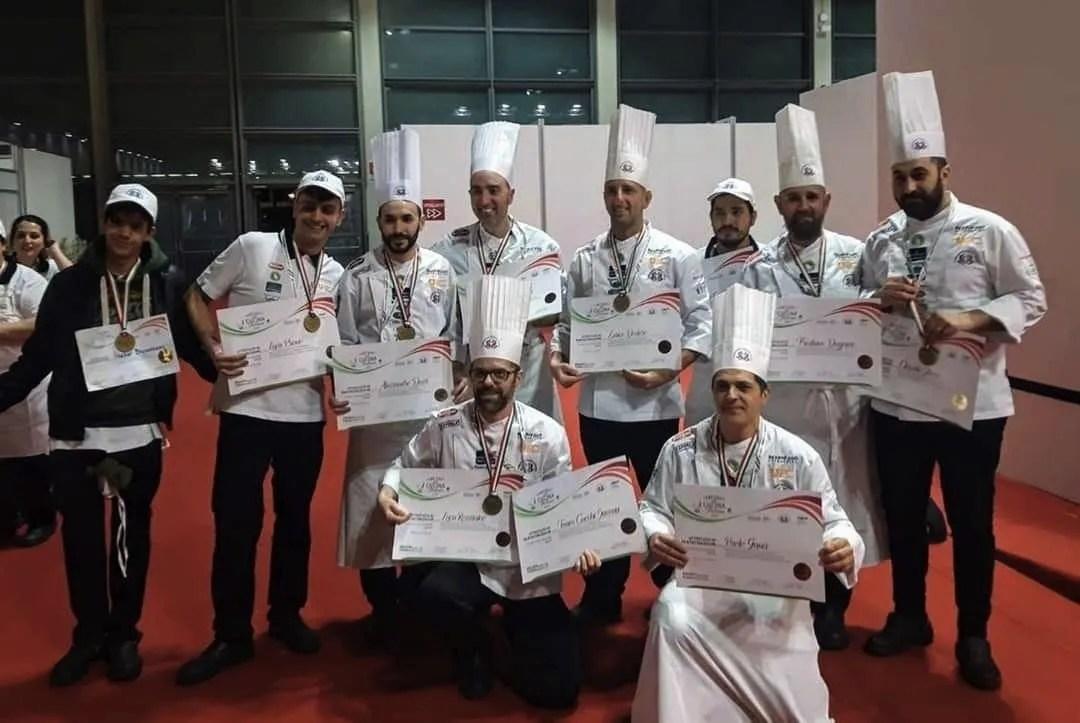 I cuochi liguri fanno incetta di medaglie ai Campionati italiani di cucina