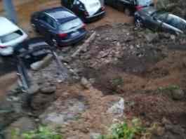 rivarolo villa sanguineti muro crollato