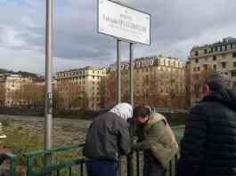 ponte Firpo rimossa targa Quattrocchi