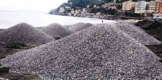 voltri spiaggia pietrisco ripasciemento