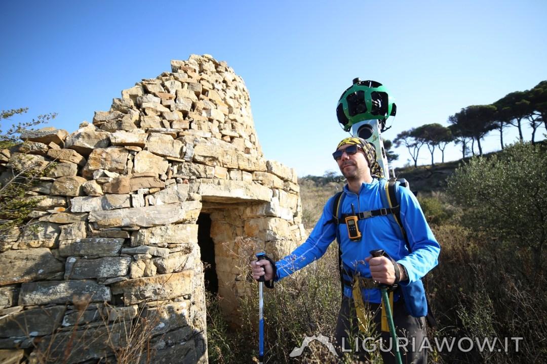 Matteo Ramella e la casella sopra la parco del Ciapà