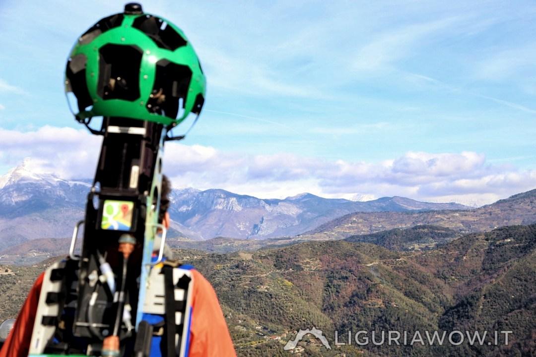 La vista sulle Alpi Liguri da Perinaldo
