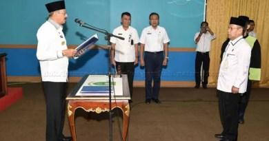 Bupati Natuna Abdul Hamid Rizal Lantik Pejabat Administrator