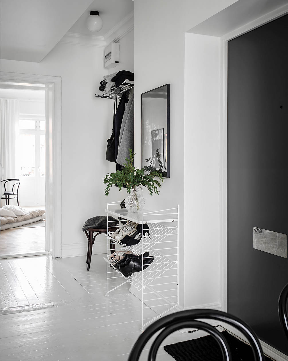 Scandinavian-Home-Tour-White-Hallway-Styling-Decor
