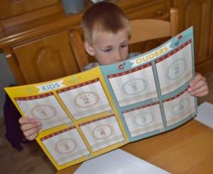 fitgaaf kalender stickers plakken kleuter leefstijl