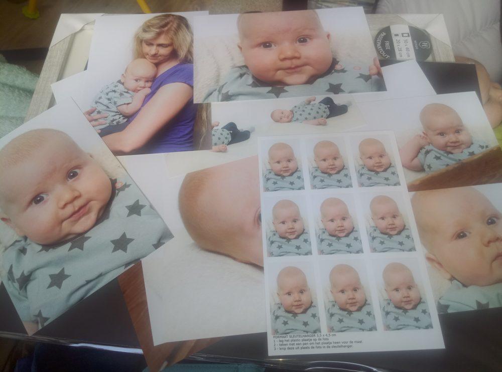 Fotoshoot met drie maanden oude baby