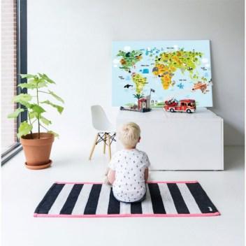 wereldkaart kinderkamer trends