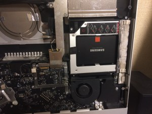 iMac mid 2010の光学ドライブをSSDに換装しました