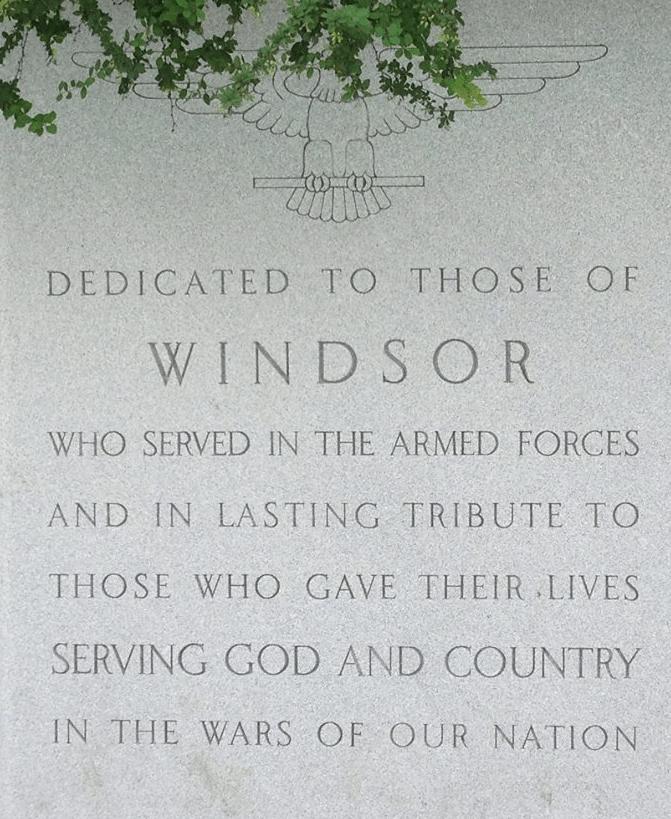 Roll of Honor: Windsor Connecticut Veterans Memorial