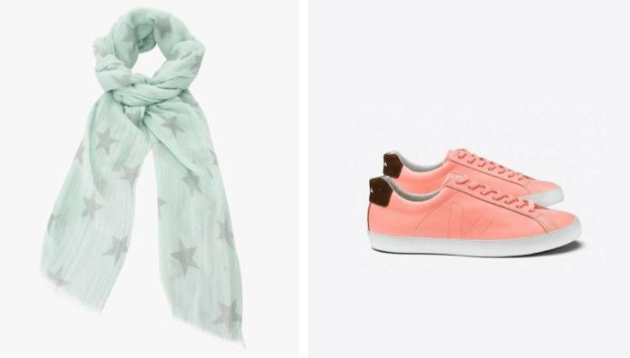 foulard-chaussures-pastel