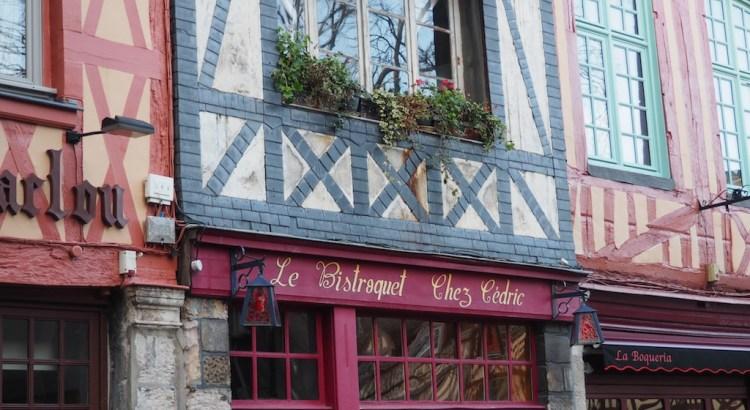 Façades colorées à Rouen
