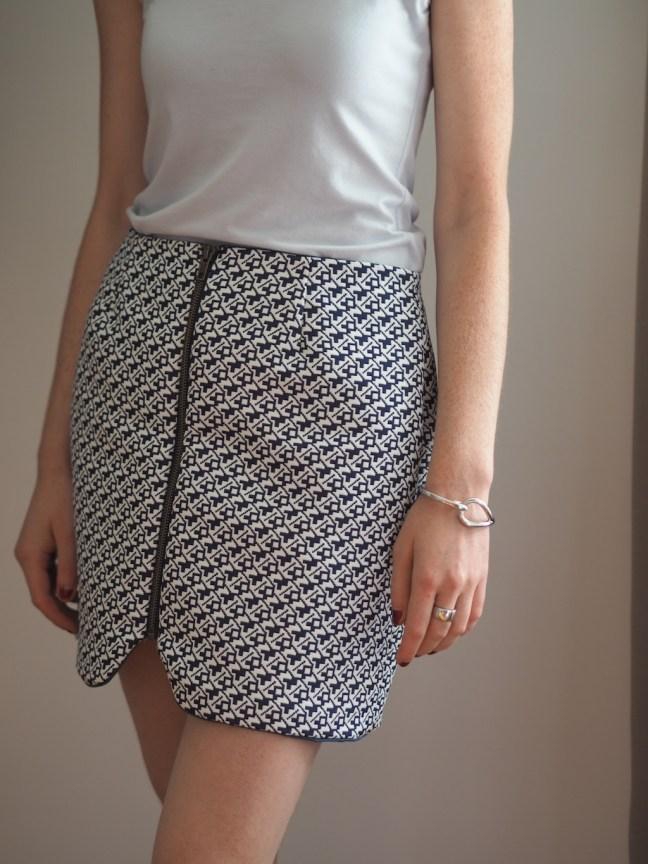 Mini jupe couture