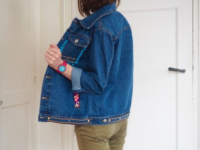 customiser-veste-jean-pompons
