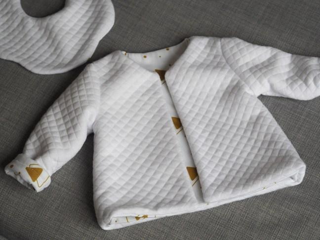 gilet bébé couture