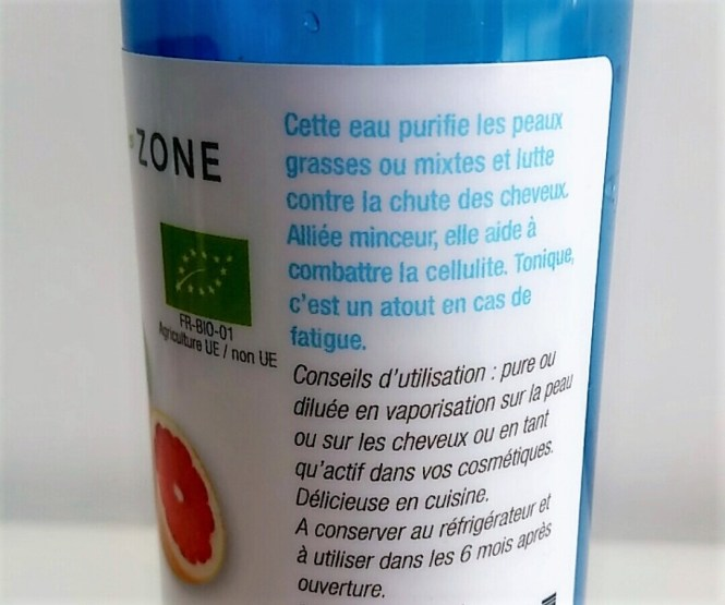 eau aromatique de pamplemousse bio aroma-zone description