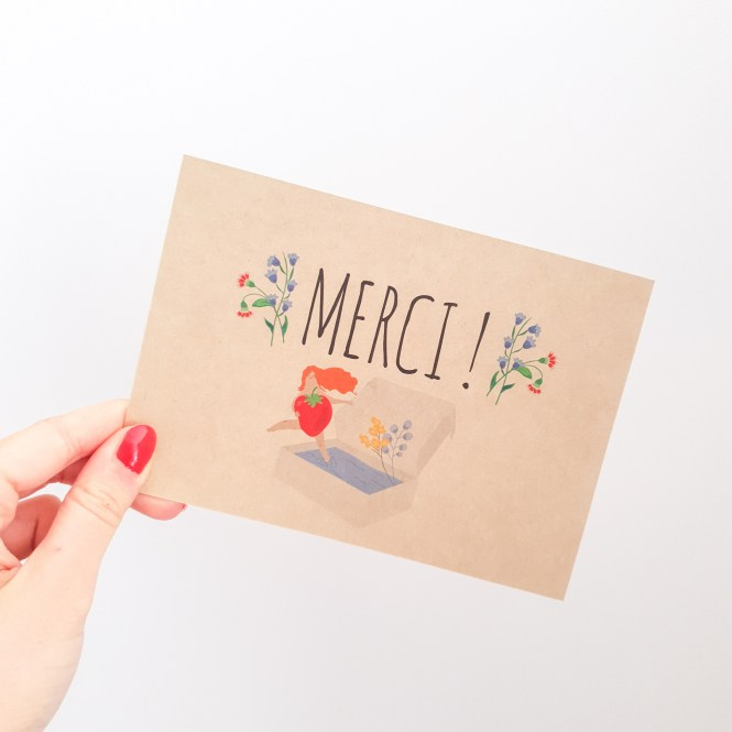 Activer mes supers pouvoirs [Ma Bulle Naturo – Mars Avril 2019] carte merci