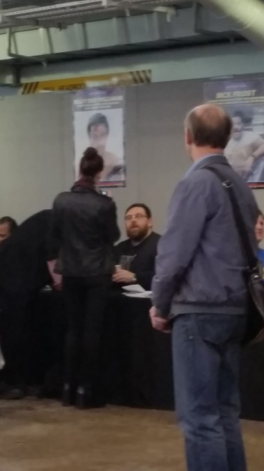 .... and this was as close to Nick Frost as I got..
