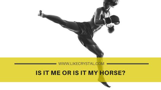 Is It Me Or Is It My Horse?