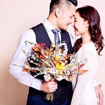 新娘乾燥花捧花