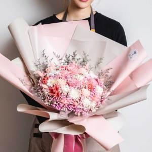 巨大乾燥花束,求婚花束推薦台北-粉色