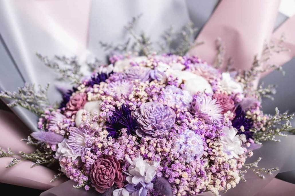 巨大乾燥花束,求婚花束推薦台北-紫色特寫
