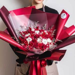 永生花束,大型永生花束照片紅色