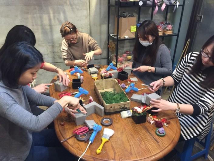 台北乾燥花課程教學,2018台北課程教學