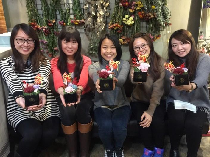 乾燥花教學,台北乾燥花店課程2018
