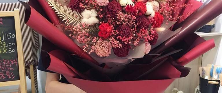 巨大花束台北,喜歡生活巨大乾燥花束
