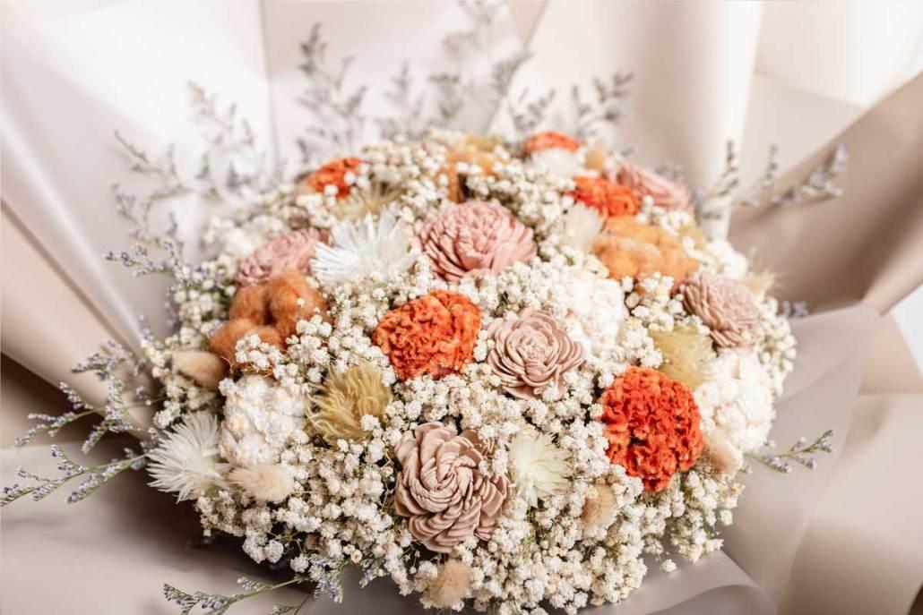 巨大乾燥花束,求婚花束推薦台北-大地色特寫