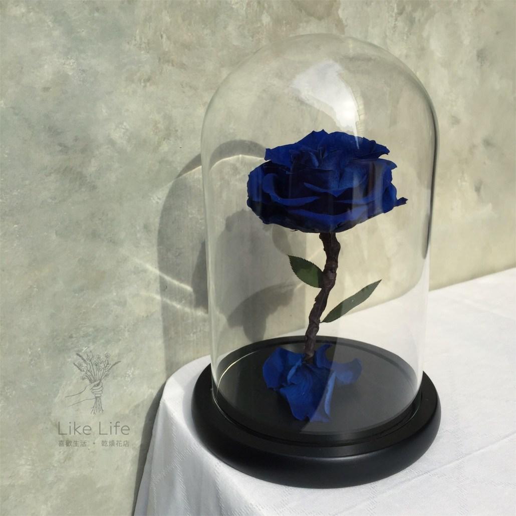 永生玫瑰花玻璃罩意境