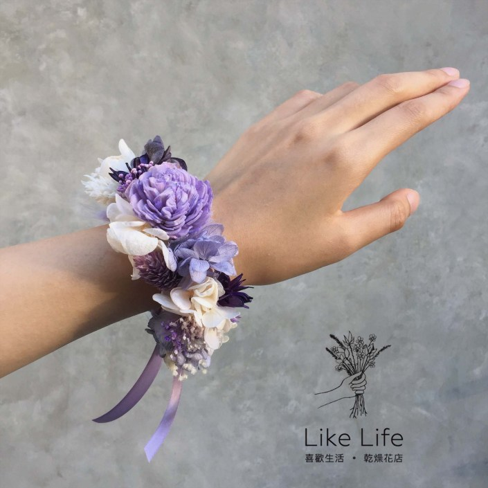永生花手腕花-淺紫色