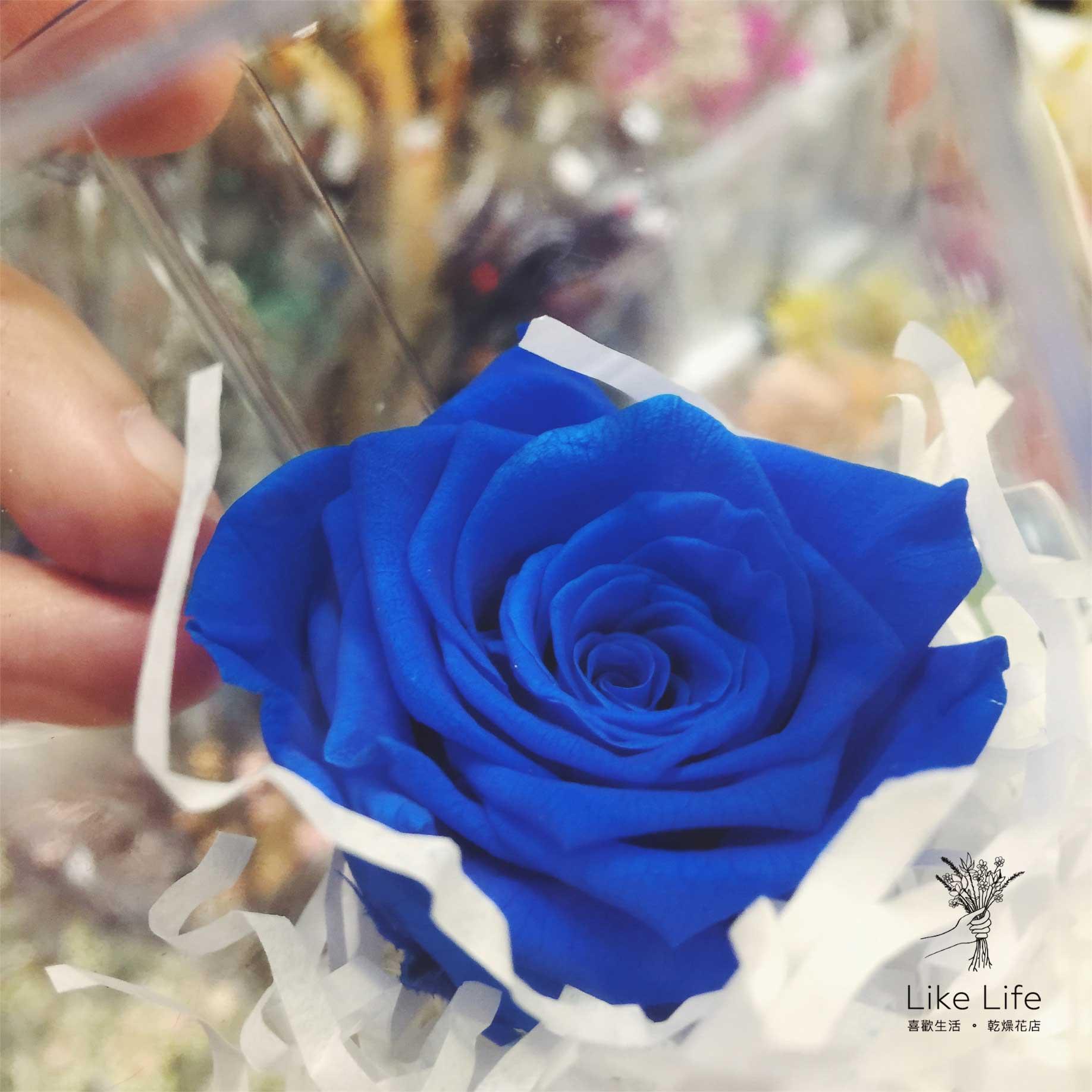 藍色永生玫瑰花,藍色永生花玫瑰,永生玫瑰花藍色
