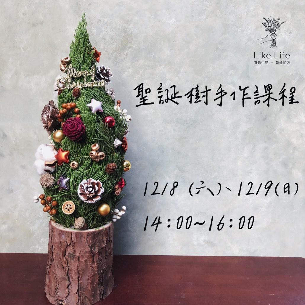聖誕樹盆栽,聖誕樹手作課程,喜歡生活乾燥花店聖誕節手作課