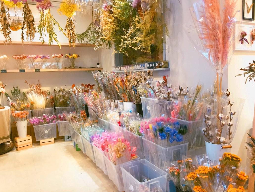 喜歡生活乾燥花店 店內多種乾燥花花材