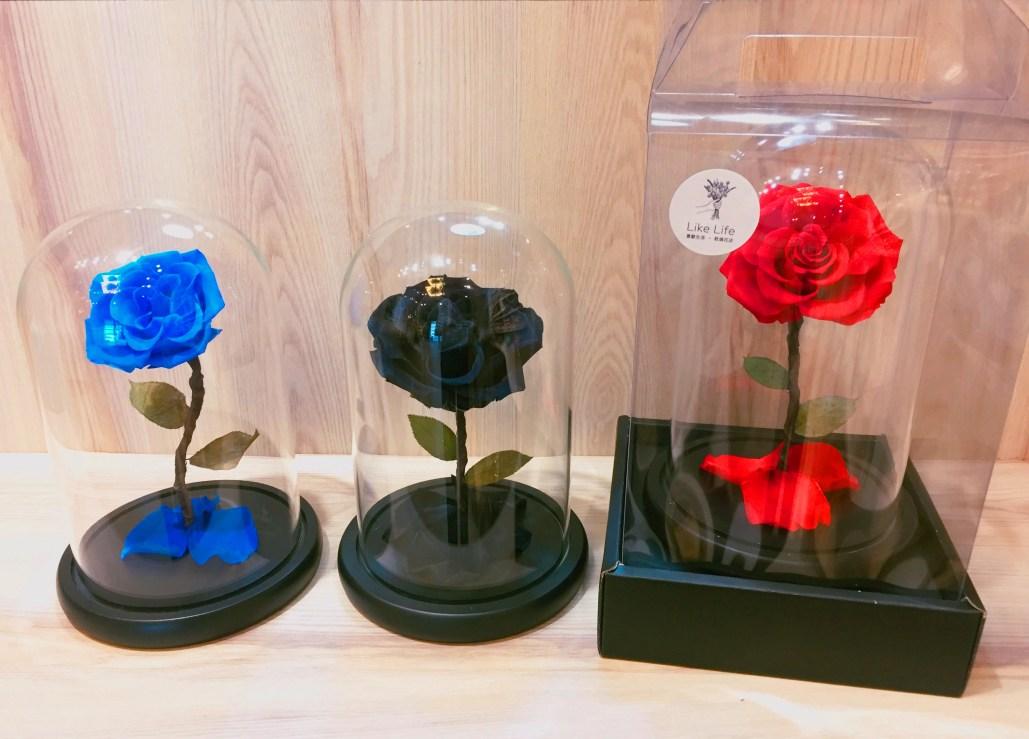 喜歡生活乾燥花店 永生玫瑰花
