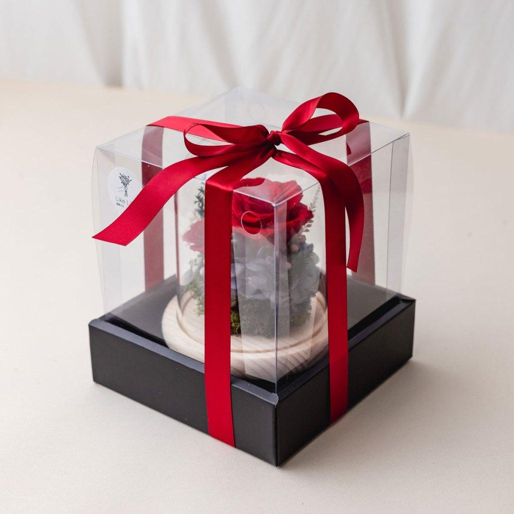 永生花禮盒包裝照片