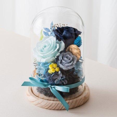 永生花玻璃盅罩-永生花大型深藍封面