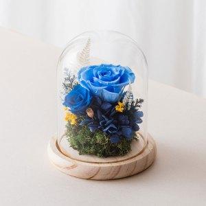 永生花玻璃鐘罩-淺藍色永生花封面