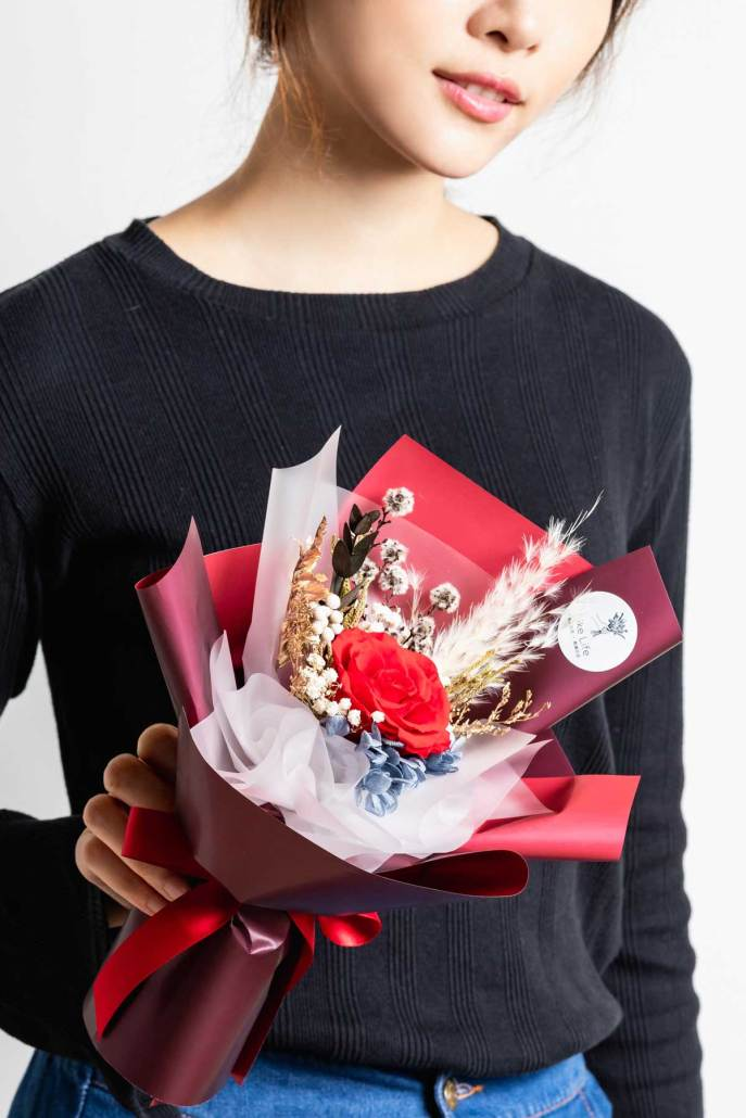 永生花束紅色推薦-永生花束紅色台北手拿